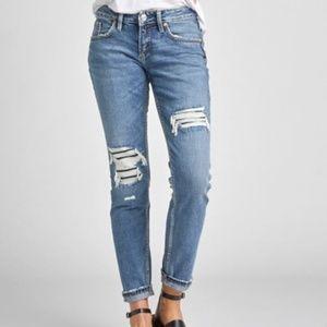 Silver Boyfriend Short Length Jeans W29 L25